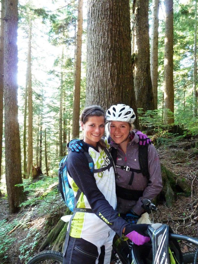 Hannah Barnes und ich auf Mt. Seymour
