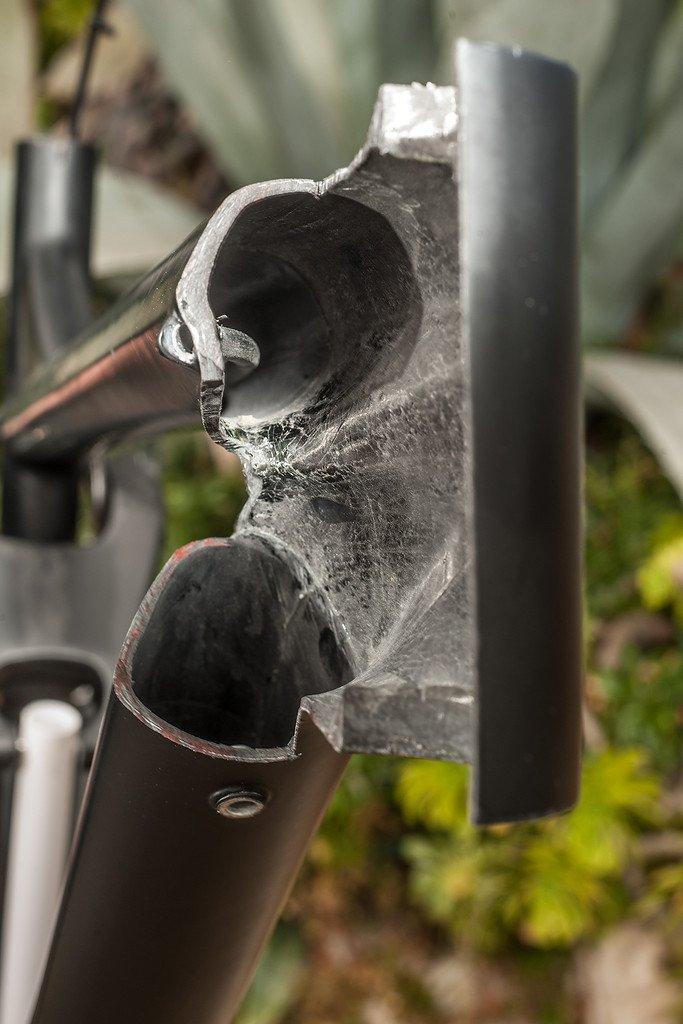 Bergamont Fastlane Carbon - Schnittmodell Steuerrohr