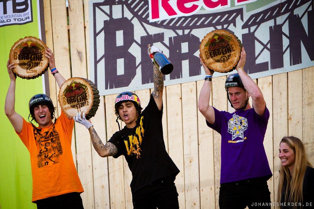 Die drei Sieger: Reynolds, Lacondeguy, Pilgrim