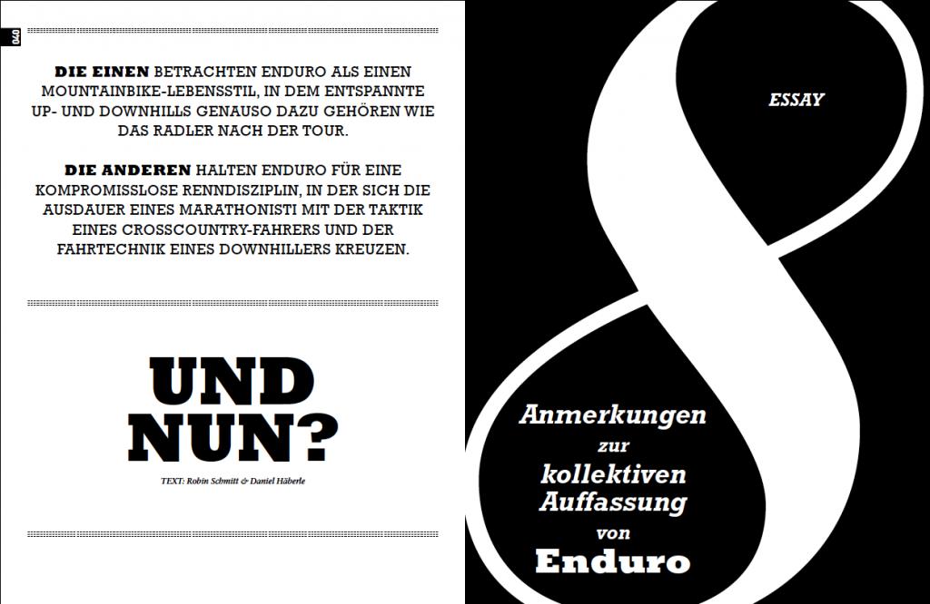 Acht Anmerkungen zu Enduro (1)