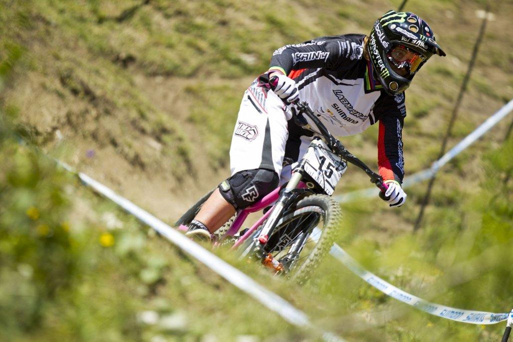 Sabrina Jonnier bei ihrem letzten Worldcuplauf