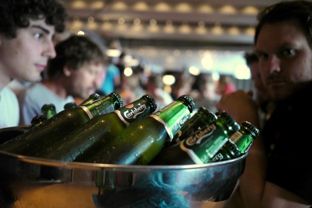 Die Aftershowparty. Und der Rausch der Gewinnermannschaft wird präsentiert von Carlsberg