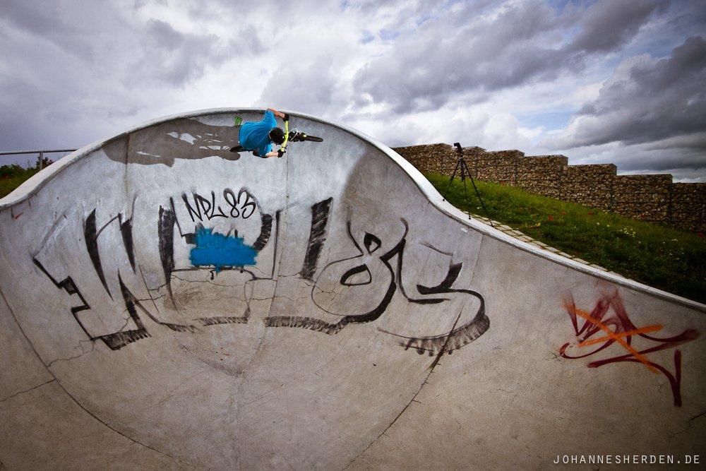 """Hannes im Skatepark """"Im Gefilde"""""""