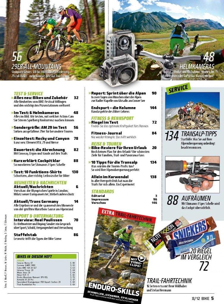 Bike 2012-08 Inhalt Seite 2