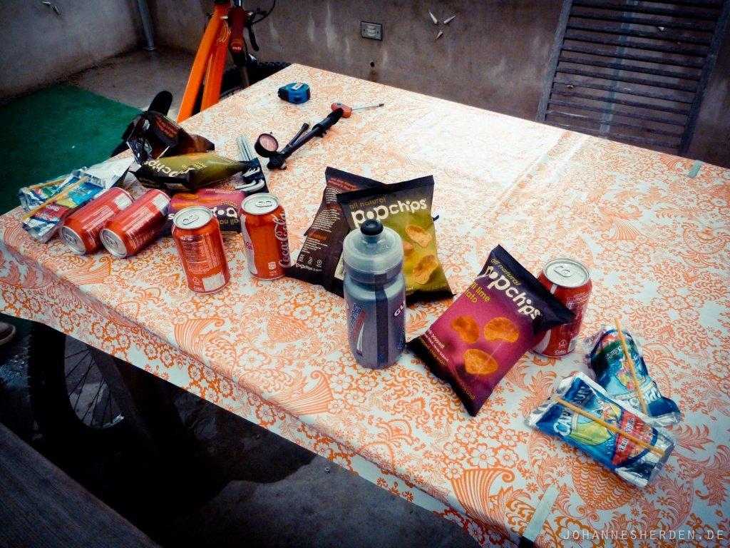 """40 Ungesünder geht es nicht: """"Proviant"""" für die Fahrt nach San Luis"""
