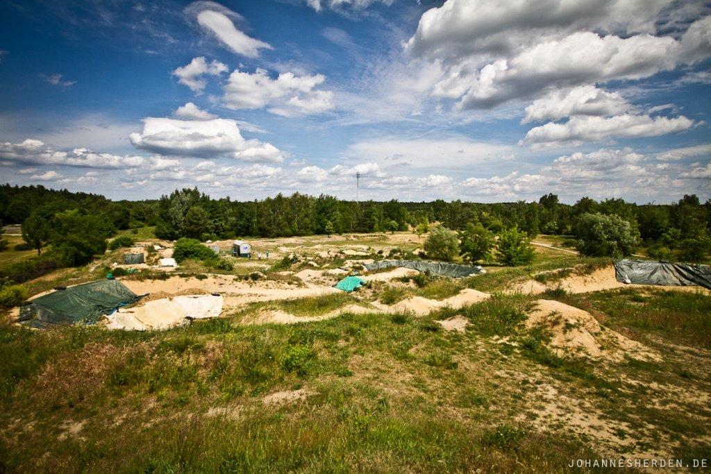 MTB-Gelände in Cottbus: Dual/4X-Strecke, Dirtline, Pumptrack