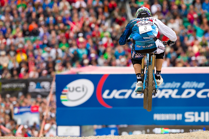 Gee Atherton in Fort William - by Sven Martin