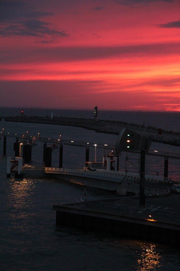 Dover: Hafen mit Sunset