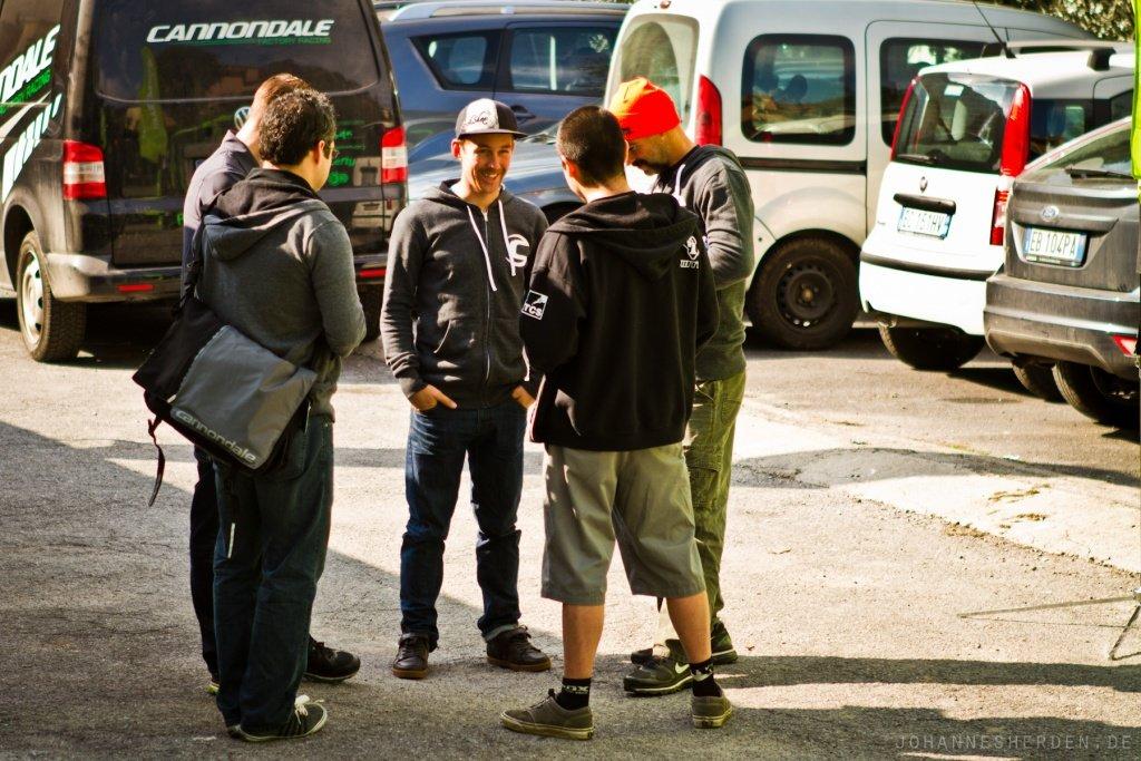 Die Overmountain-Fahrer im Gespräch