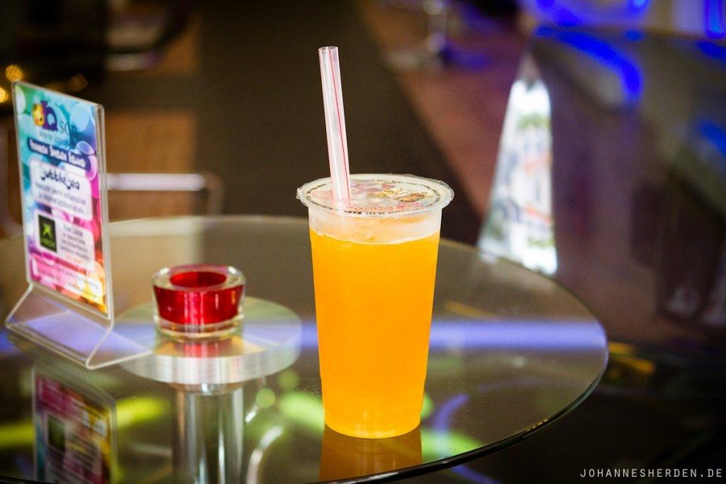 Grüner Tee mit Mango & Passionsfrucht-Bubbles!