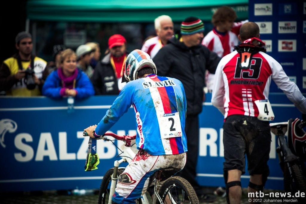 Verletzt und trotzdem Dritter: Tomas Slavik