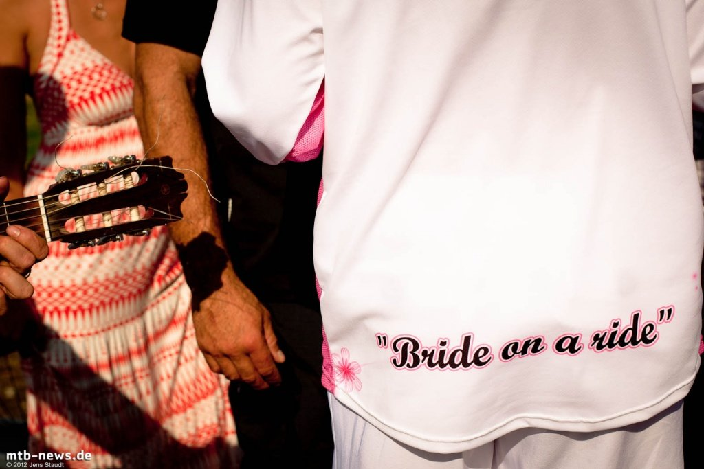 Brett Tippie Wedding - Bride on a ride