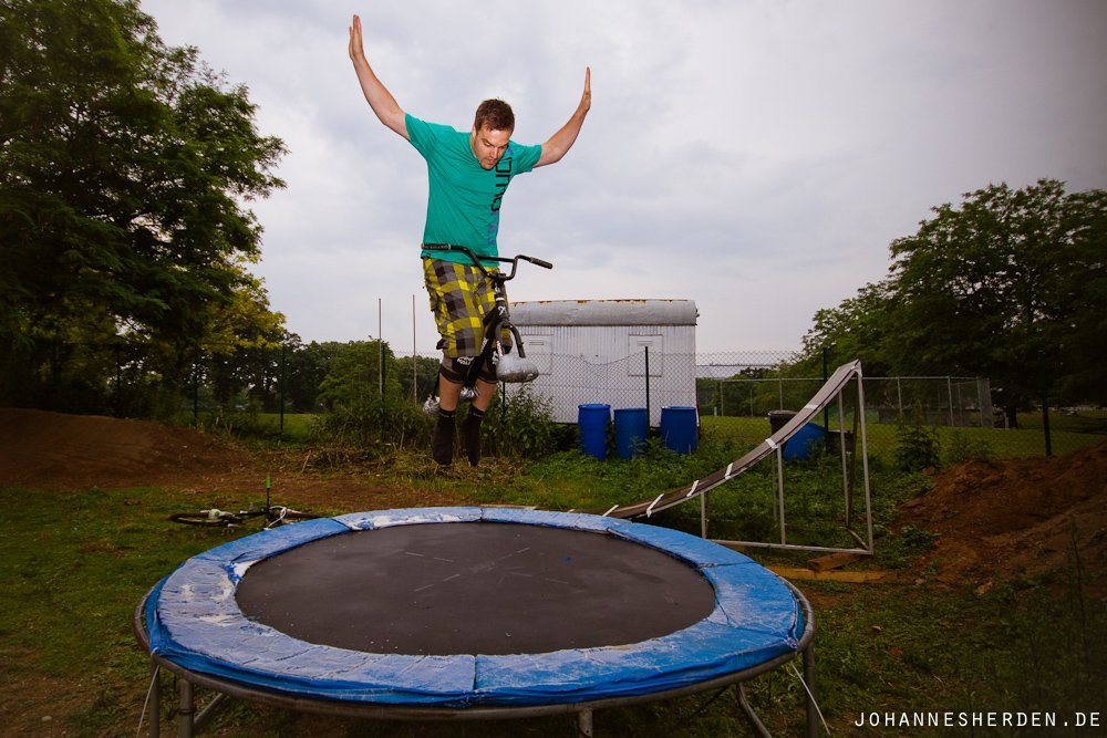 Trampolin-Training: Hannes