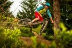 On Trail with e:i Shock on Ghost Cagua 650b
