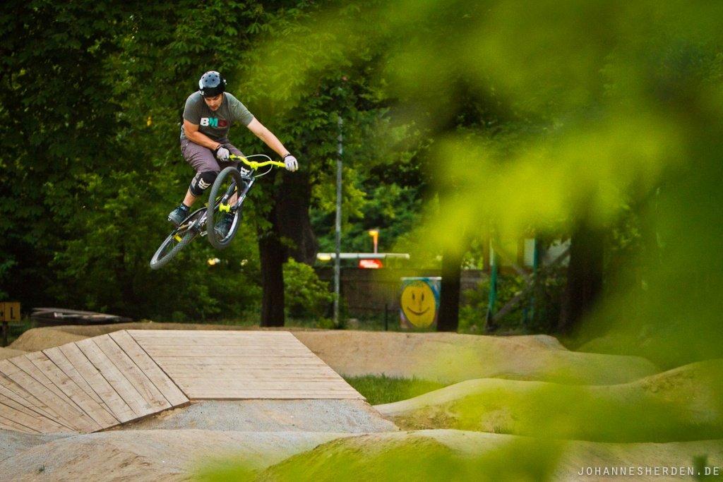 Hannes im Pumptrack Mellowpark