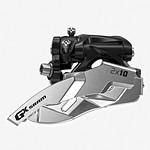 SRAM MTB GX FD 2x10sp LC TopPull Side L