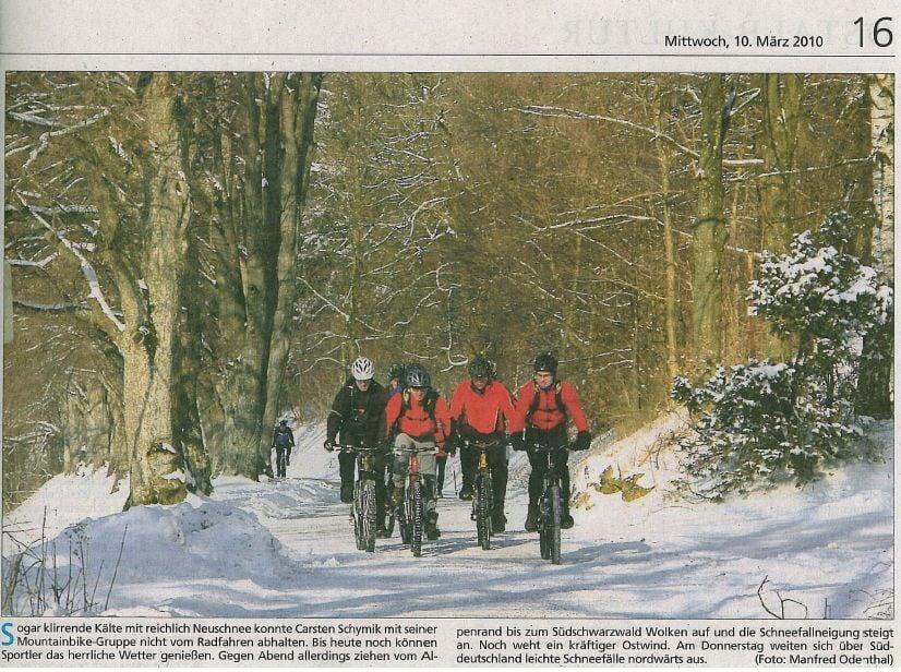 eiskalte Biker. Schwäbische Post 10.03.2010