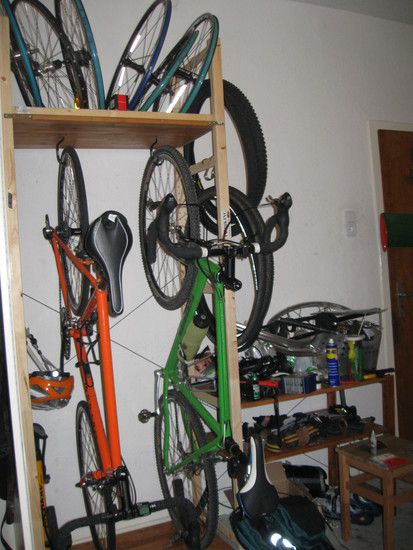 fahrrad wandhalterung zeigt eure eigenbauten rennrad. Black Bedroom Furniture Sets. Home Design Ideas