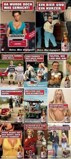 Astra Bier Werbung