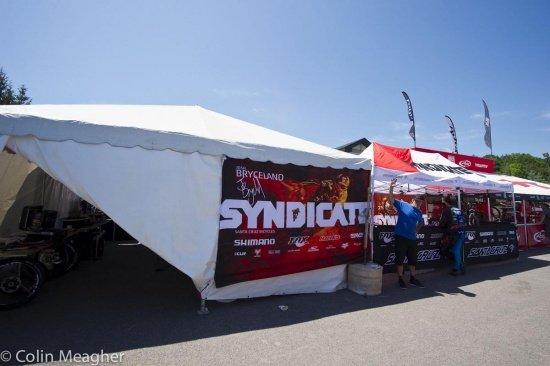 Yeah - das Syndicate Zelt ist aufgetaucht ;)