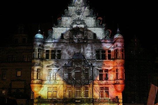 Lichtshow Georgentor Dresden