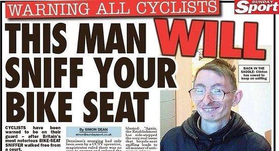 british bike sniffing snobby seat sniffer