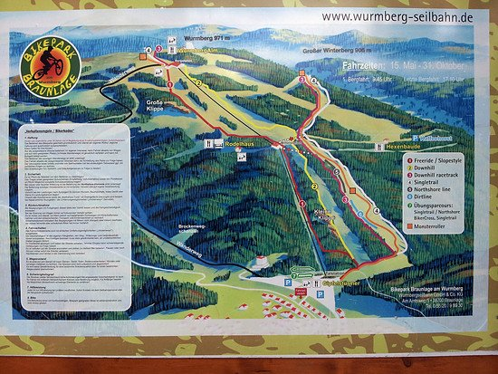 Streckenkarte Braunlage