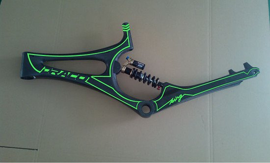 Soft Tail Down Hill Bicycle Frame carbon