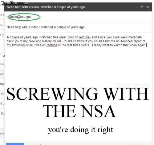 Screwing with the NSA!