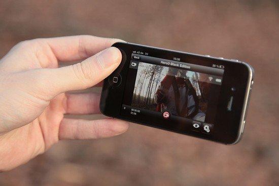 Leider kein Outdoor-Gerät: Das iPhone.