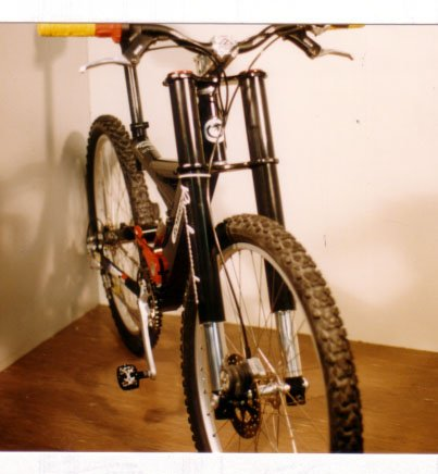 2nd proto of Bombproof Ripplemunchers DH suspension fork