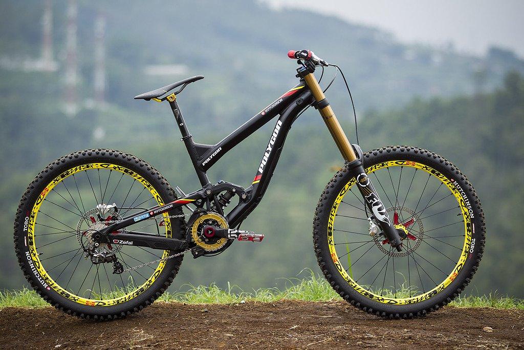 Hutchinson UR DH Team-Bike von Polygon