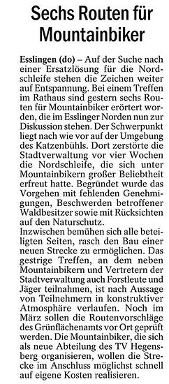 esslinger zeitung zum thema EsNos 2.0 am 4.3.14
