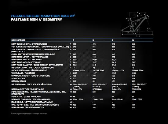 Bergamont Fastlane 2013 - Geometrie