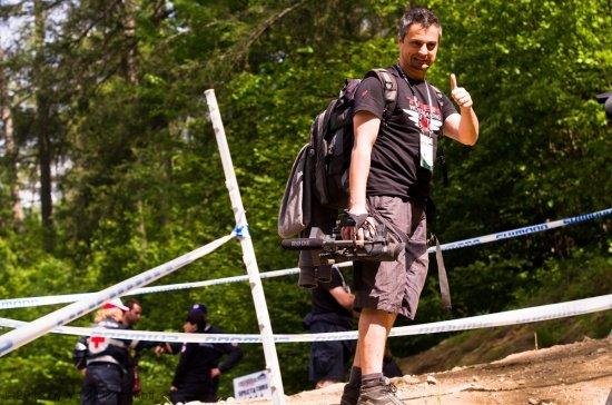 Vittorio - filmt für Trek und uns