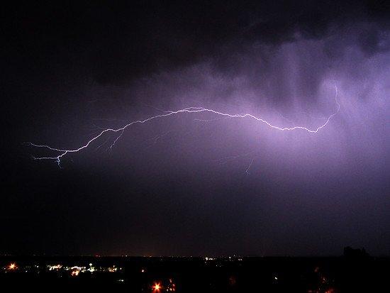 Blitz über dem Bodensee