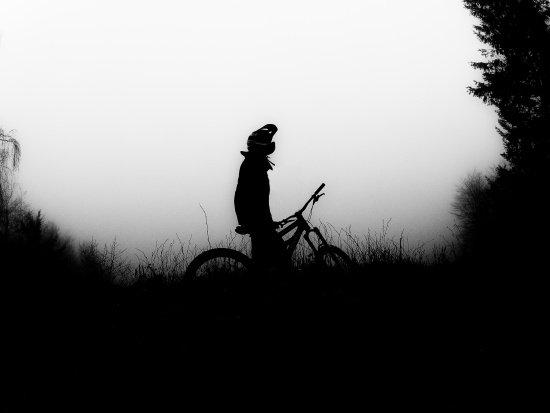 Biken im Nebel....