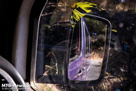 Abfahrt mit dem Shuttle-Bus: Nahezu alle Trail-Eingänge rund um Malaga lassen sich mit dem Auto erreichen.