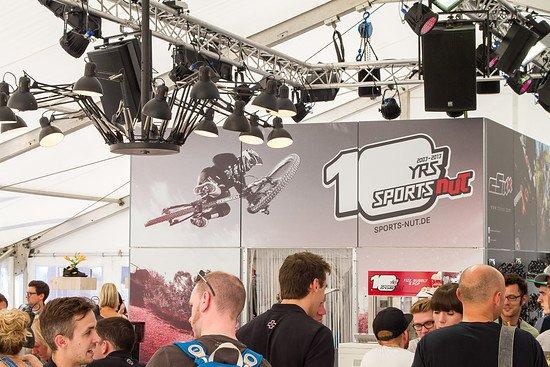Schonmal groß vorgefeiert: Die 10 Jahr-Feier von Sports Nut auf der Eurobike 2013...
