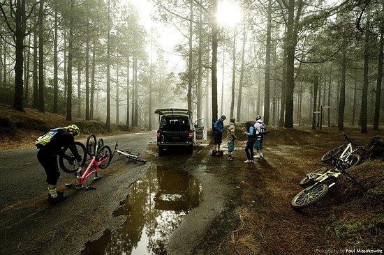 Auch auf La Palma ist man vor Regen nicht gefeit.