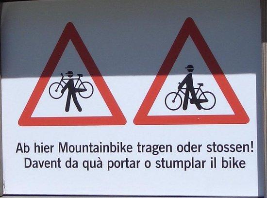 Warnung Val d Uina