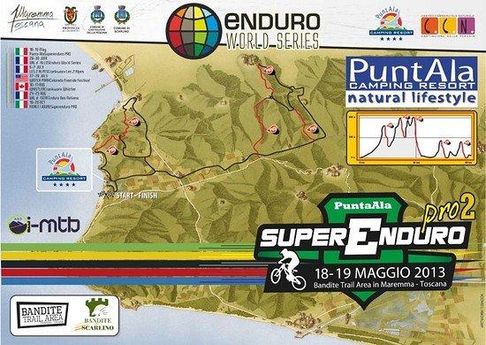 Streckenplan für die EWS in Punta Ala