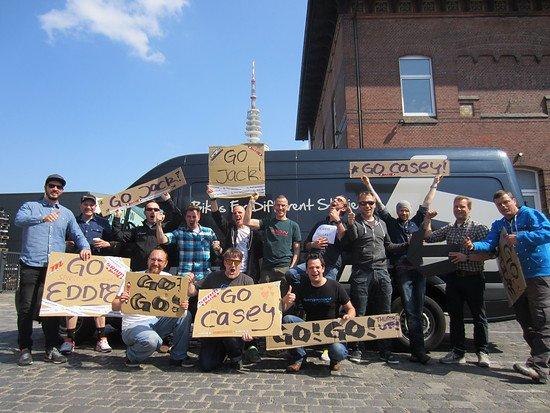 Bergamont Hamburg drückt dem Bergamont DH Team die Daumen!