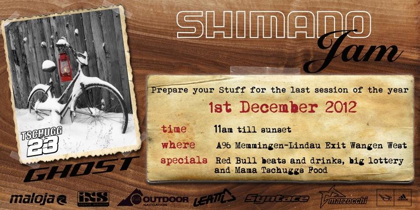 Flyer SHIMANO X-Mas Jam 01.12