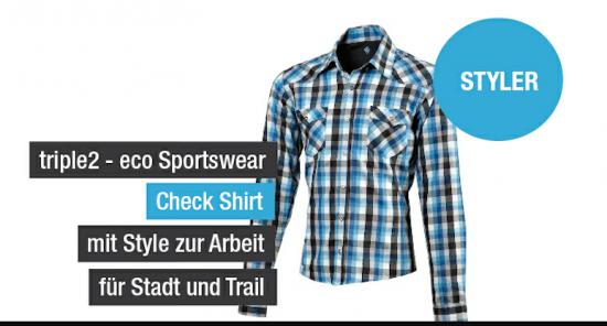 Triple2 check shirt