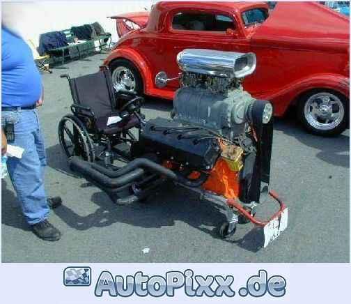 rollstuhl mit motor
