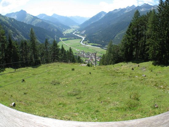 Stanglalm Ausblick ins Lechtal