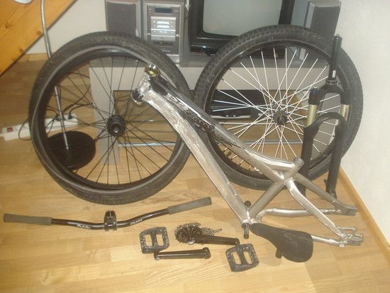 fahrrad zerlegt