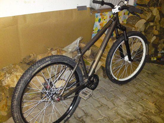 dirty dirt bike