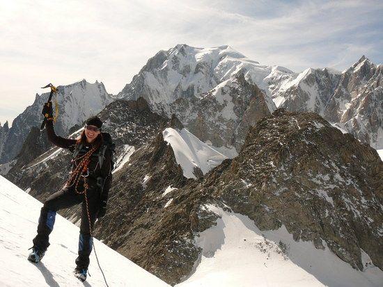 Es geht zur Not auch mal (kurzfristig) ohne Bike am Mont Blanc.. ;-)